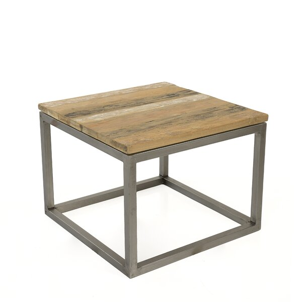 Blackman Recycled Teak End Table by Union Rustic