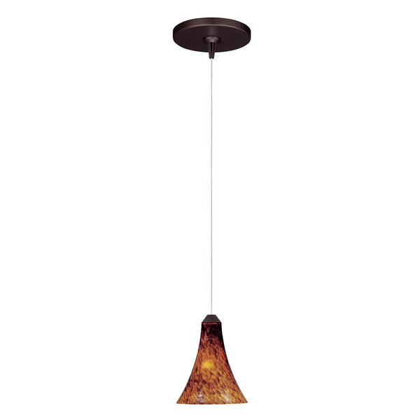 Azurine 1-Light Cone Pendant by Bloomsbury Market