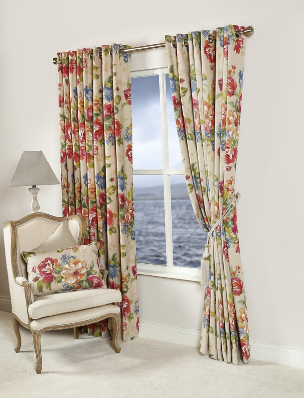 Rosie Floral Curtain Panels