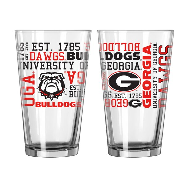 NCAA 16 Oz. Pint Glass (Set of 2) by Boelter Brand
