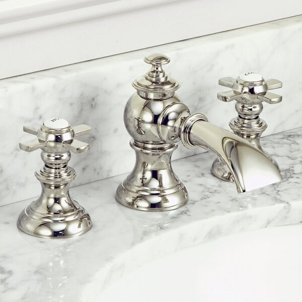 Modern Classic Widespread Faucet with Drain Assembly by dCOR design