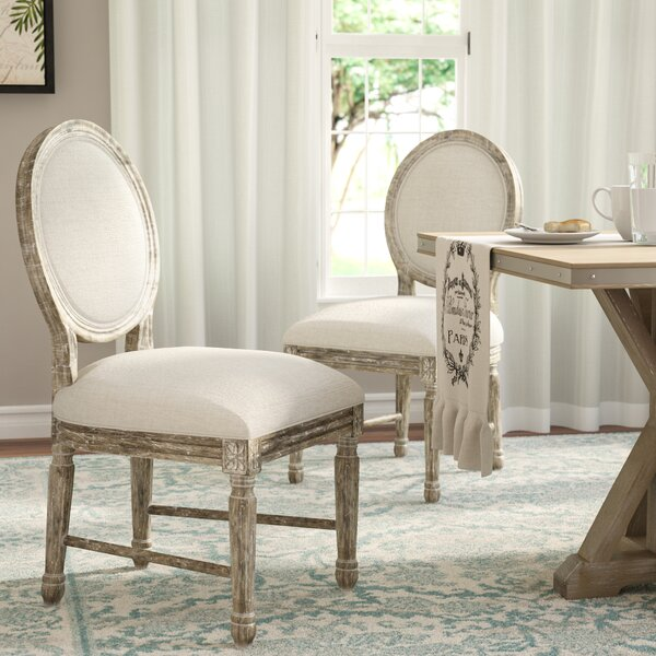 Clintwood Side Chair In Natural Beige (Set Of 2) By Three Posts