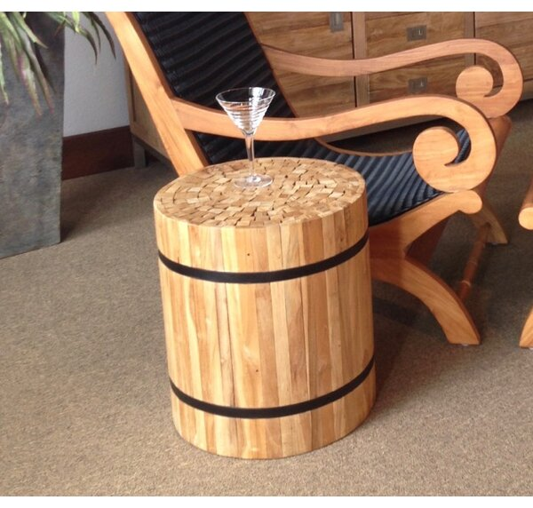 Nutella Teak Accent Stool by Chic Teak