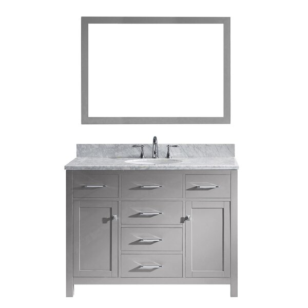 Kenilworth 47 Single Bathroom Vanity Set with Mirror by Highland Dunes