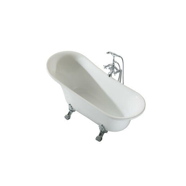 Isabella Platinum Oval 63 x 27 Freestanding Soaking Bathtub by Ariel Bath