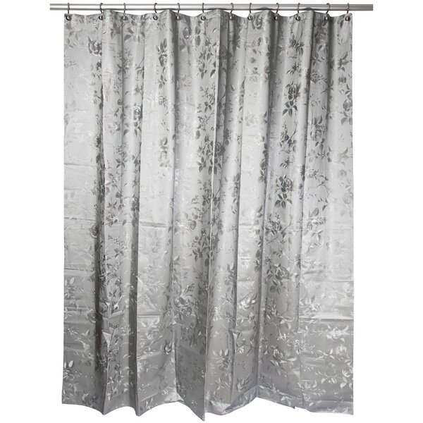 Warminster Etched Rose Shower Curtain by House of Hampton