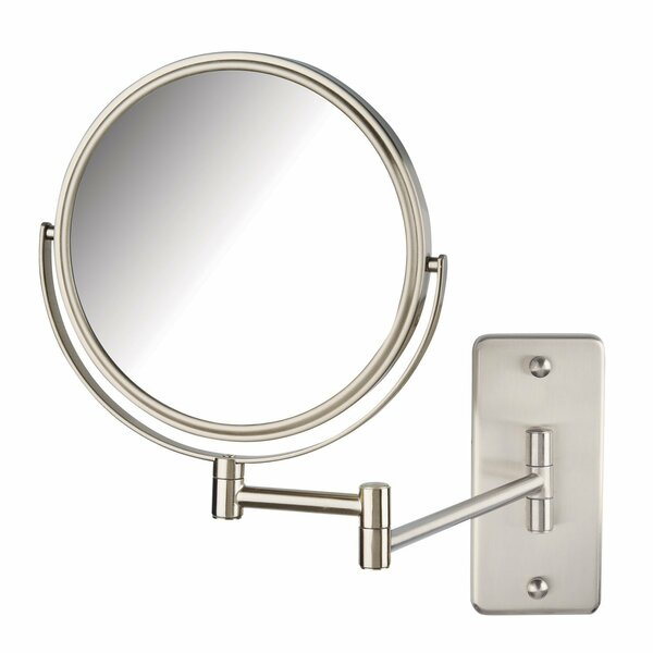 Nickel Wall Mount Bathroom Vanity Mirror by Symple Stuff