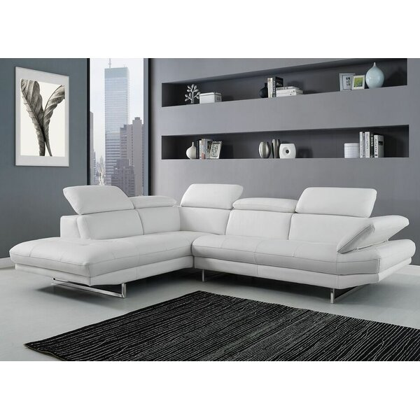 Gridley Leather Sectional by Wade Logan
