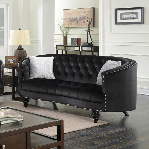Browse Our Full Selection Of Treshon Chesterfield Loveseat by Everly Quinn by Everly Quinn