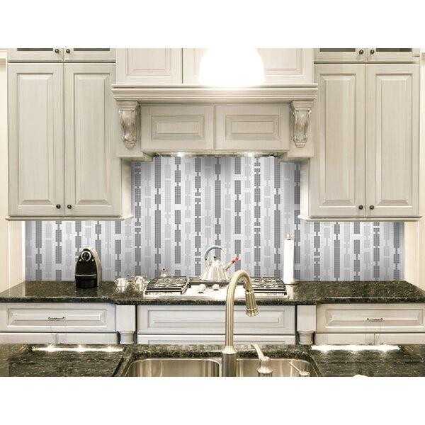 Urban Essentials Marimba 3/4 x 3/4 Glass Glossy Mosaic in Calm Grey by Mosaic Loft