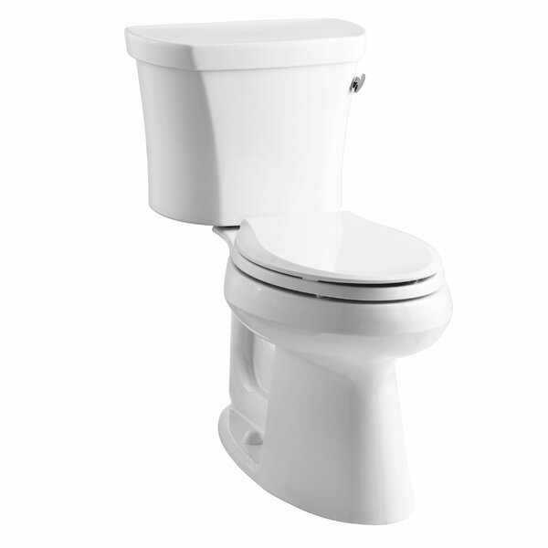 Highline Comfort Height Two-Piece Elongated 1.28 GPF Toilet with Class Five Flush Technology, Right-Hand Trip Lever, Insuliner Tank Liner and Tank Cover Locks by Kohler