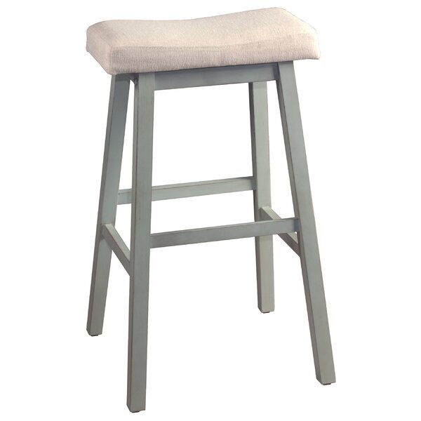 Angelique Non-Swivel Backless Counter Bar Stool by Highland Dunes