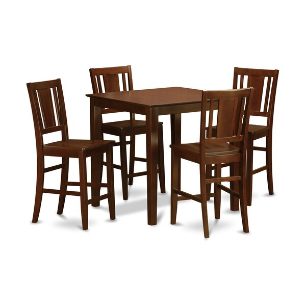 Stgeorge 5 Piece Counter Height Pub Table Set by Charlton Home Charlton Home