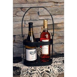 2 Bottle Tabletop Wine Rack by J & J Wire