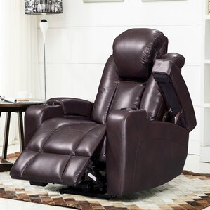 Piccadilly Leather Air Transforming Power Recliner & Power Recliner With Cup Holder   Wayfair islam-shia.org