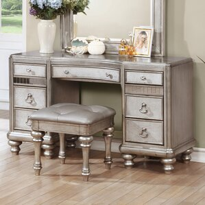Vanity Desk Combo | Wayfair