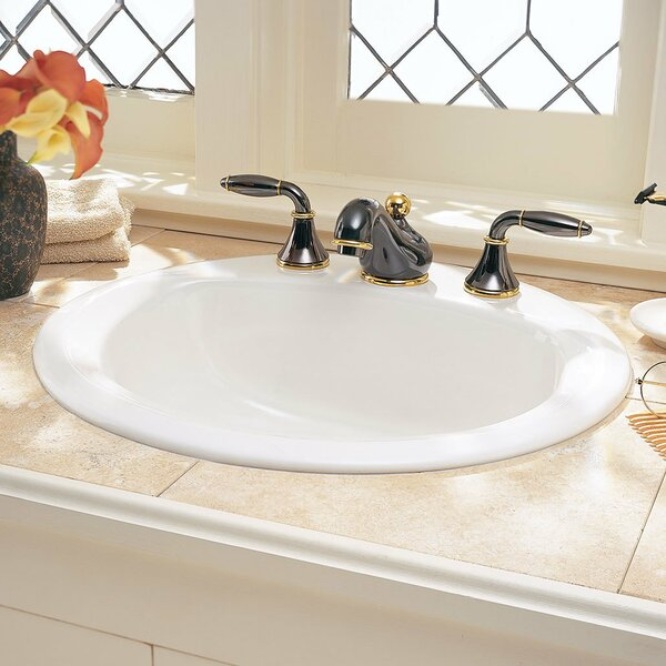 Retrospect Ceramic Circular Drop-In Bathroom Sink with Overflow by American Standard