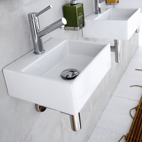 Quarelo Ceramic 13 Wall Mount Bathroom Sink by WS Bath Collections