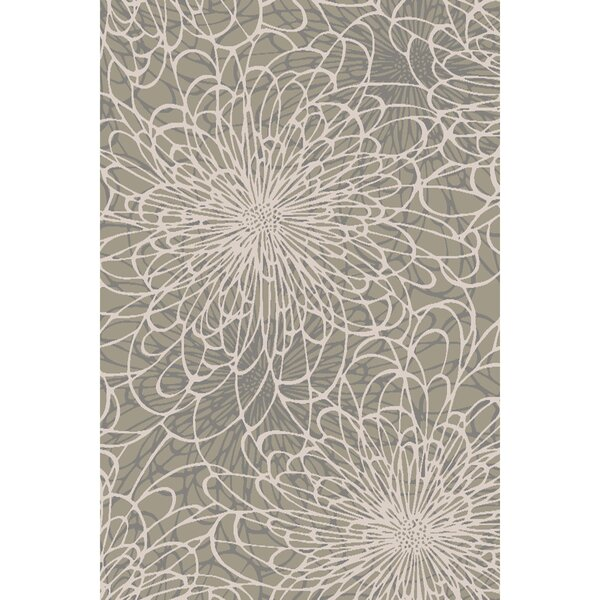 Oconnell Hand-Knotted Light Gray Area Rug by Brayden Studio