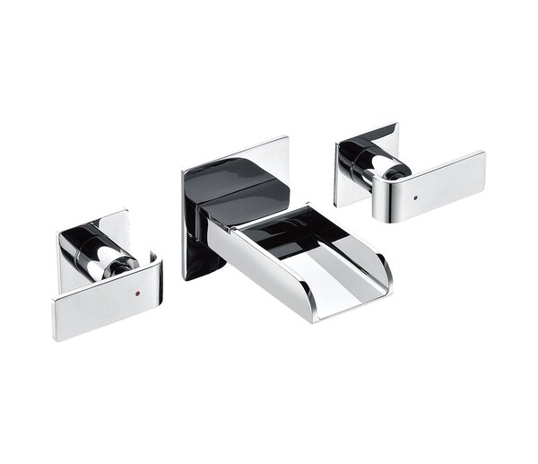 Modern Waterfall Widespread Wall Lever Bathroom Faucet by Alfi Brand