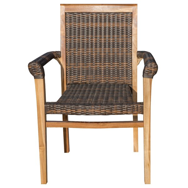 Stacking Teak Patio Dining Chair by EcoDecors