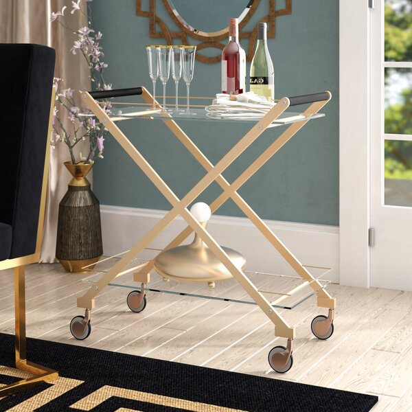Bertram Modern Metal Bar Cart by Everly Quinn