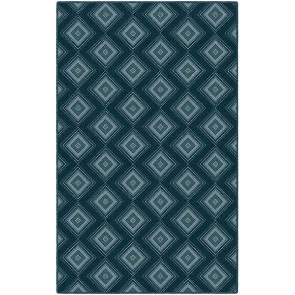 Fortney Geometric Trellis Blue Area Rug by Wrought Studio