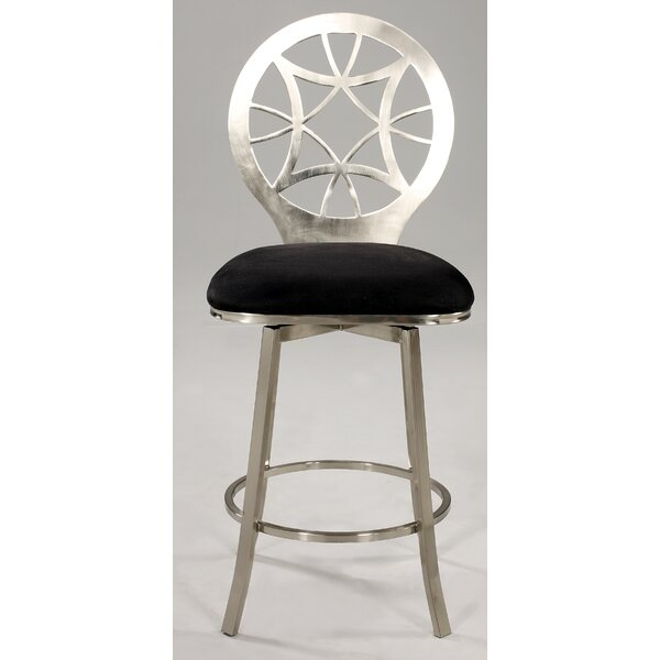 29.7 Swivel Bar Stool by Chintaly Imports