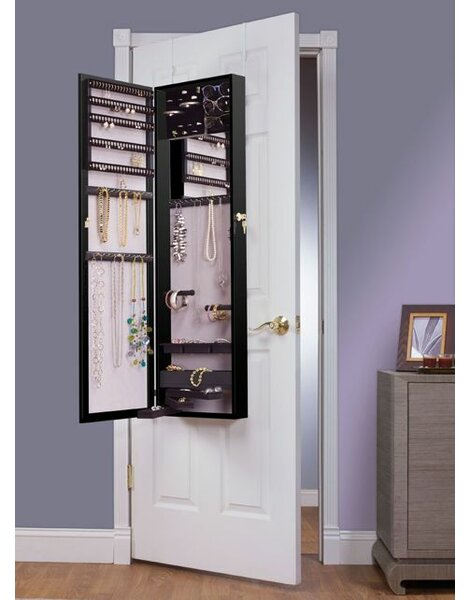 Nye Over the Door Jewelry Armoire with Mirror by Red Barrel Studio
