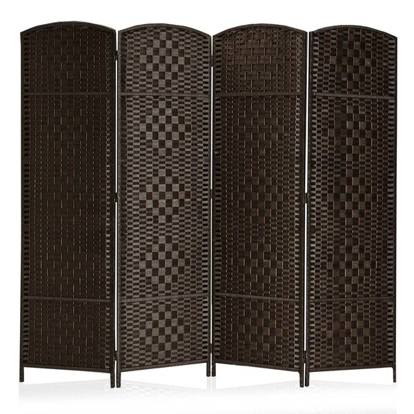 Waller Diamond Weave Fiber Room Divider by Bay Isle Home