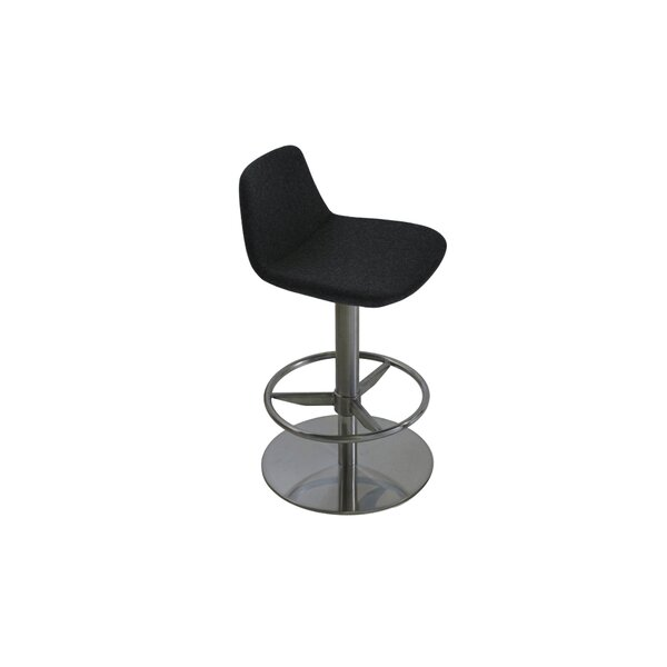 Elmdale Adjustable Height Swivel Bar Stool by Orren Ellis Orren Ellis