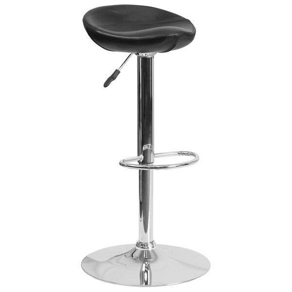 Grygla Adjustable Height Swivel Bar Stool by Orren Ellis