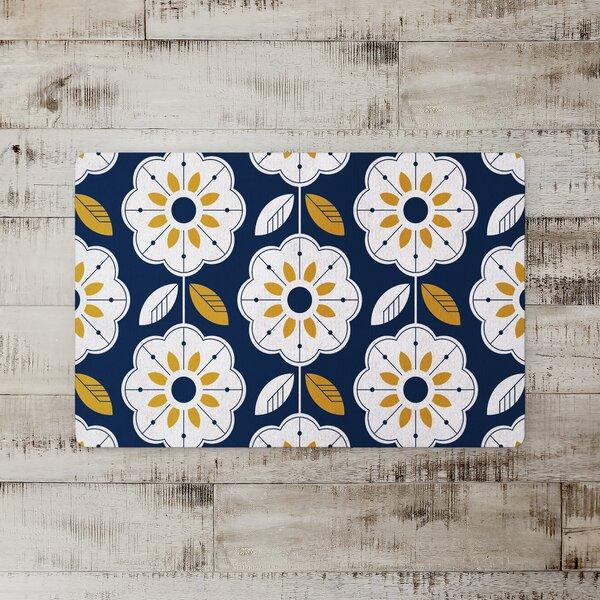 Micco Mod Flowers Kitchen Mat