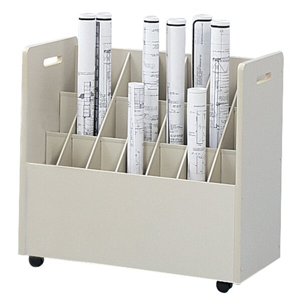 Mobile Roll File Filing Cart by Safco Products Company