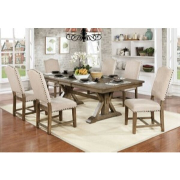 Lowell 7 Piece Drop Leaf Solid Wood Dining Set by One Allium Way