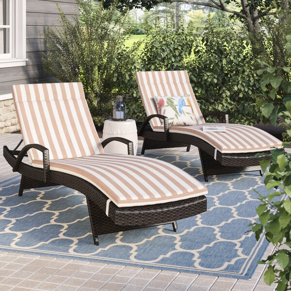 Rebello Outdoor Wicker Armed Lounge with Cushion (Set of 2) by Sol 72 Outdoor Sol 72 Outdoor