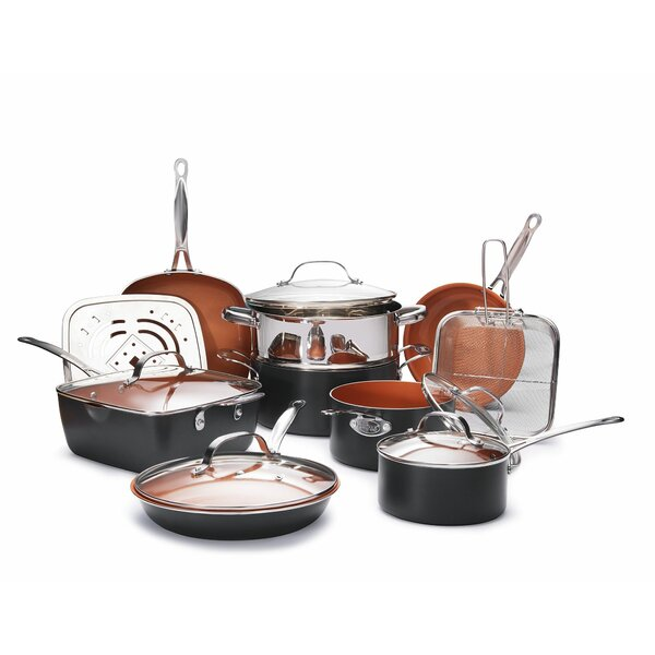 15 Piece Non-Stick Cookware Set by Gotham Steel