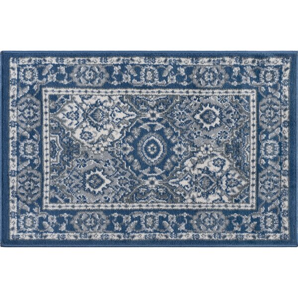 Dolphus Traditional Oriental Navy Area Rug by Darby Home Co