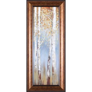 Butterscotch Birch Trees I by Allison Pearce Framed Painting Print by Art Effects