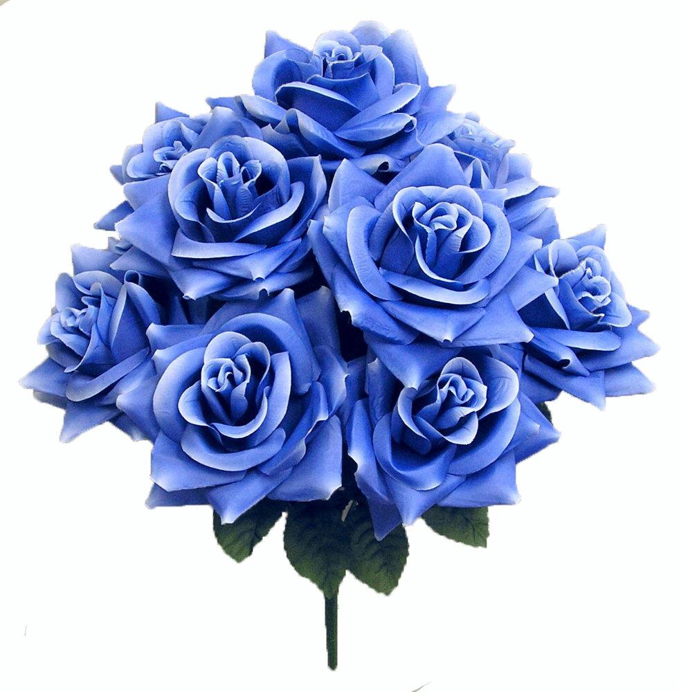 Willa Arlo Interiors 9 Stems Artificial Blossoms Rose Bush Reviews