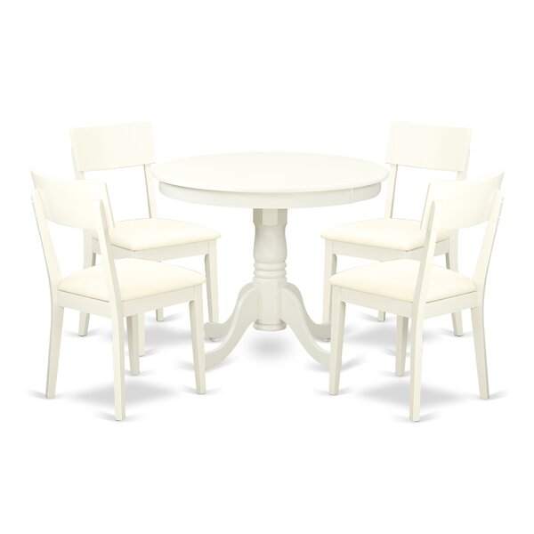 Brendan 5 Piece Breakfast Nook Solid Wood Dining Set by August Grove August Grove