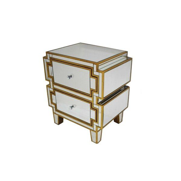 Hanrahan 2 Drawer Nightstand by House of Hampton