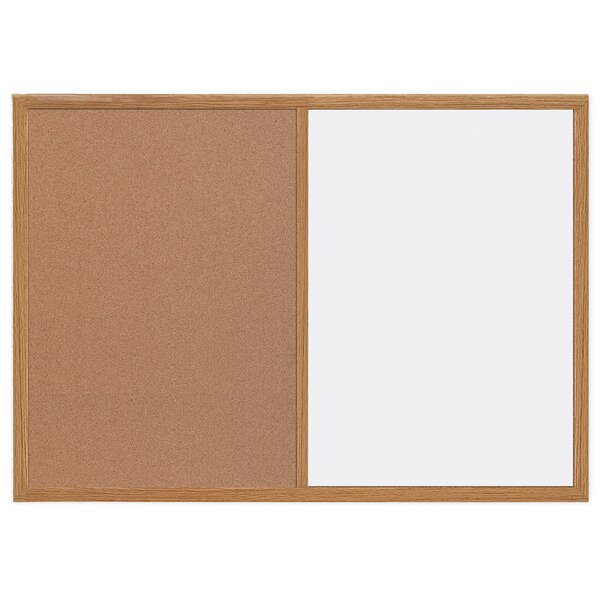 Silver Easy Clean And Cork Wall Mounted Combination Boards By Mastervision.