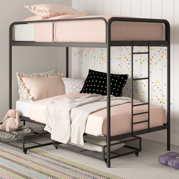 Tammi Twin over Twin Bunk Bed with Drawers by Harriet Bee