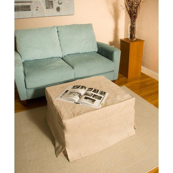 Linen Box Cushion Ottoman Slipcover By Freeport Park