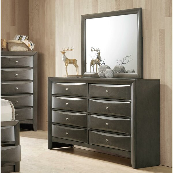 Weidman 8 Drawer Double Dresser with Mirror by Latitude Run