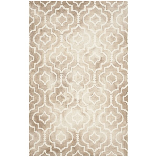 Edwyn Hand-Tufted Wool Beige / Ivory Area Rug by House of Hampton
