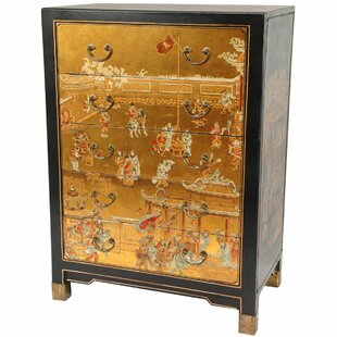 Hand Painted 5 Drawer Chest By Oriental Furniture