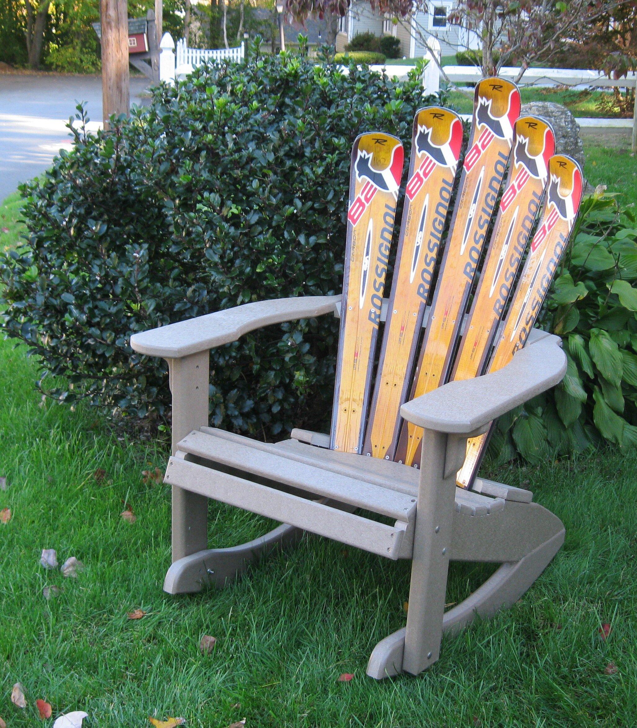Ski Chair Snow Ski Plastic Adirondack Chair Rocker   Wayfair