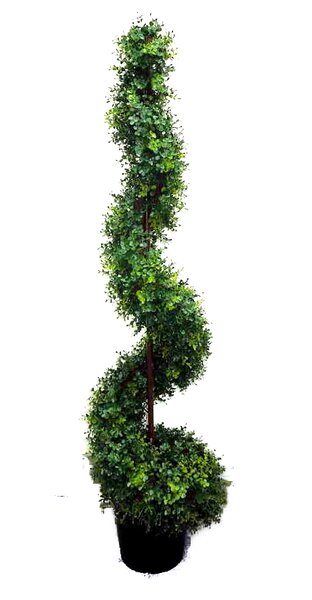 Artificial Spiral Topiary Plant in Pot by Admired by Nature